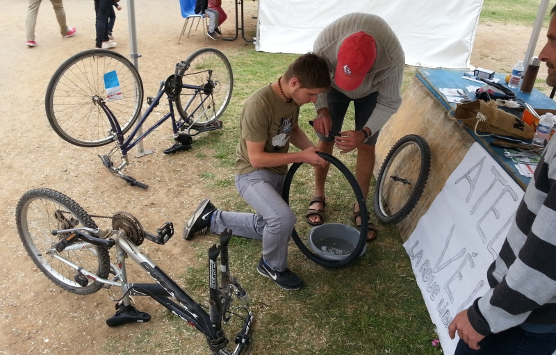 L'atelier vélo en test à Marseillan fin mai 2016