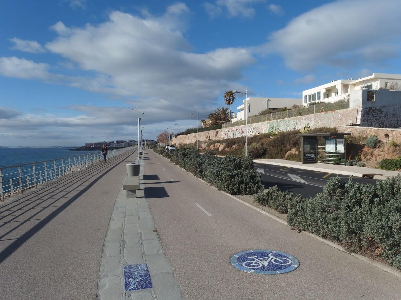 Piste cyclable de la Corniche à Sète