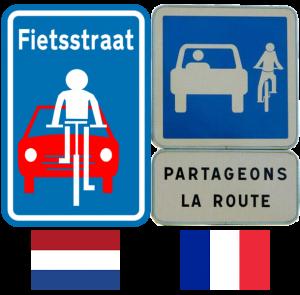 Panneaux de partage de la route