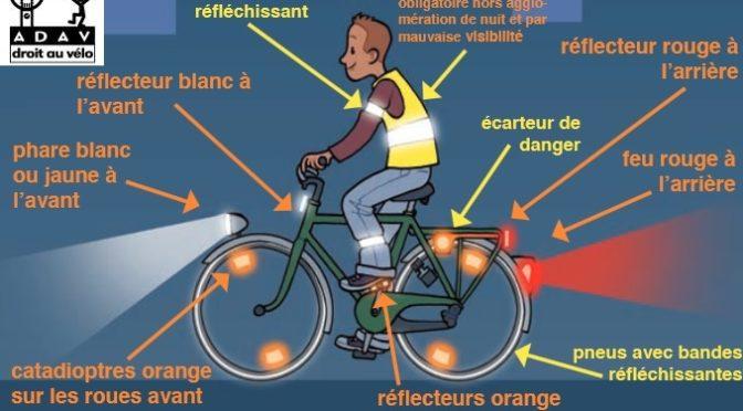 Vélo de nuit : le bon équipement