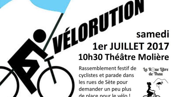 Vélorution et balade à vélo les 1er et 2 juillet