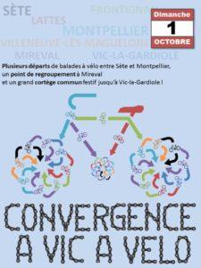 Affiche de la convergence à Vic à vélo