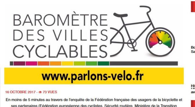 Que pensent les cyclistes sétois des déplacements à vélo dans Sète ?