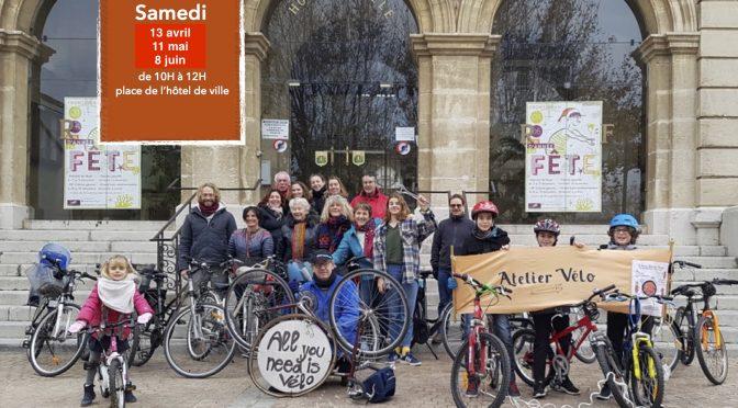 Atelier velo samedi 13 avril à Frontignan