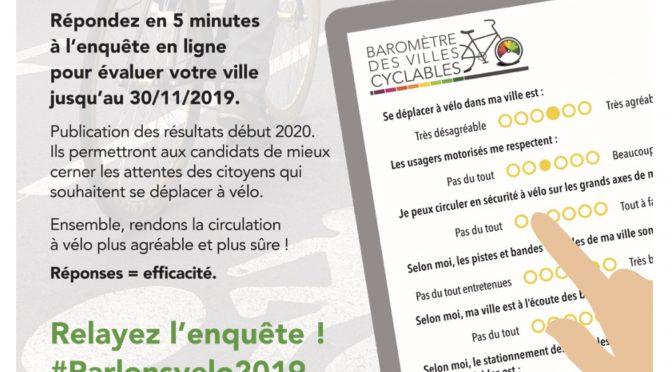 Repondez au barometre des villes cyclables : votre ville est-elle cyclable ?