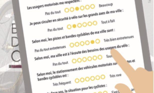 Baromètre des villes cyclables : Répondez au questionnaire !