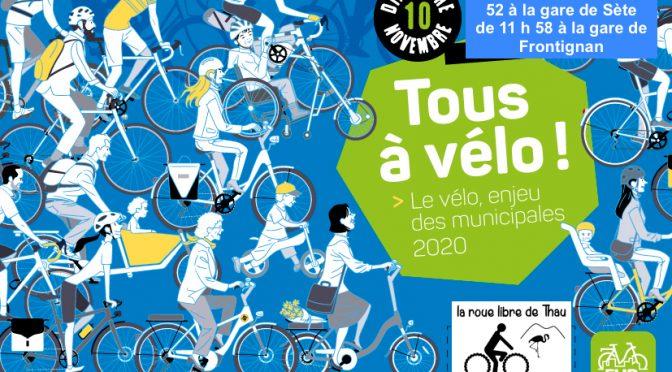 Tous à vélo, dimanche 10 novembre