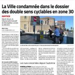 Le Midi-libre du 2 juillet 2020 : la ville de Sète condamnée