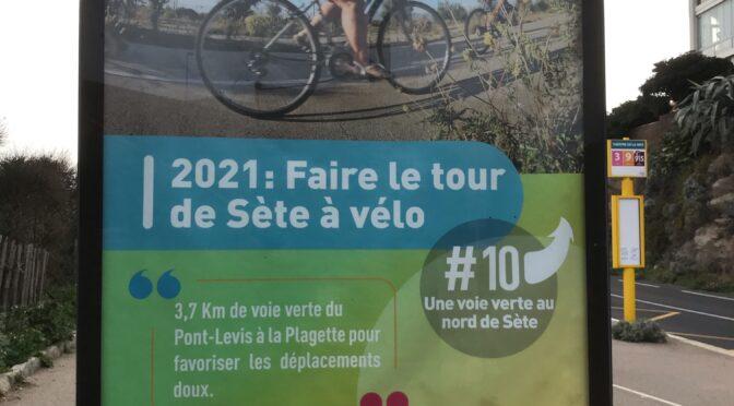 Traverser Sète ou en faire le  tour à vélo ?